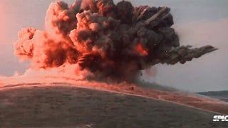 Allied aircraft deliver massive bombing to destroy a single ISIS flag