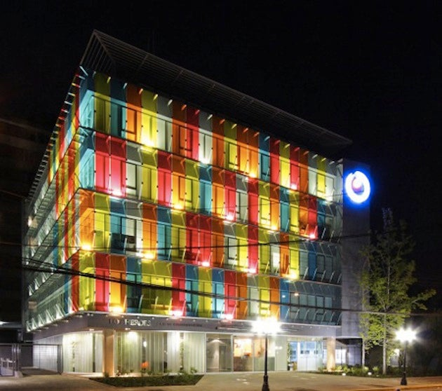 Turning a Building Into a Giant Psychedelic Rainbow Is the Best Renovation