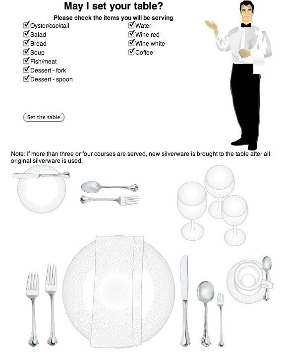 "How to Set the Table ""Properly"""