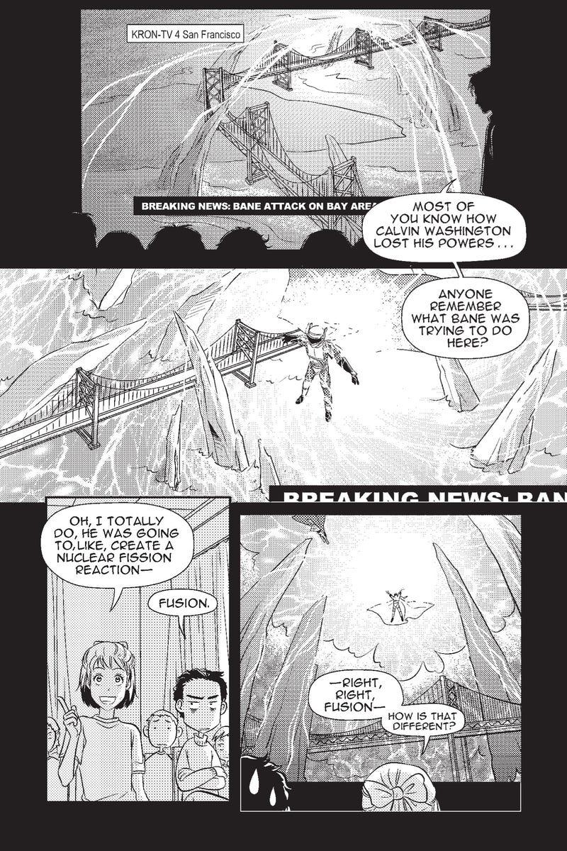 A sneak peek at Temeraire author Naomi Novik's first foray into superhero manga