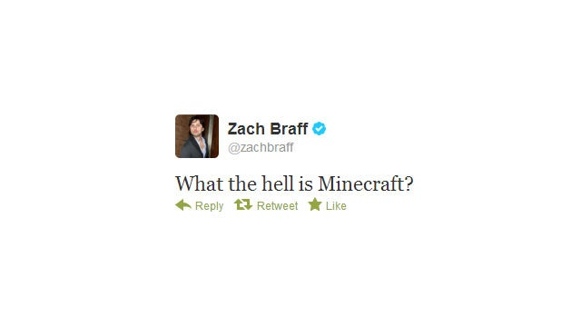 Hey Internet, Let's Help Zach Braff Find Out What Minecraft Is