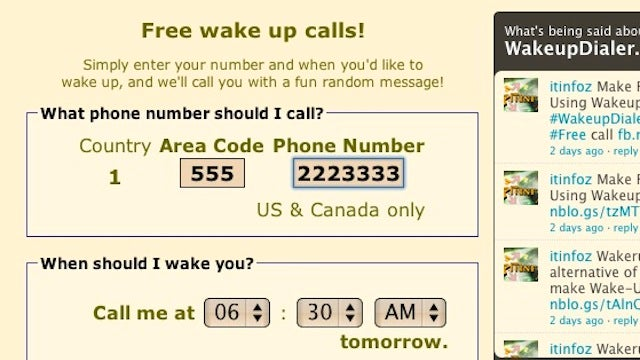 WakeupDialer Calls You with a Wake-Up Call To Make Sure You Get Out of Bed