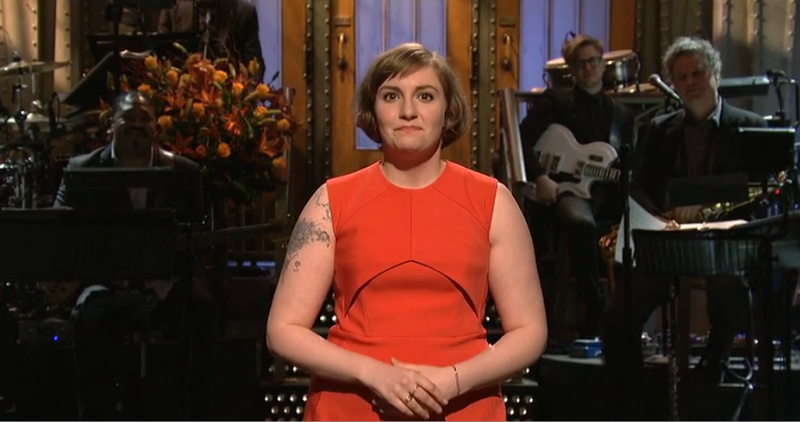 Lena Dunham Gets Naked, Scraps with Men's Rights Activist on SNL
