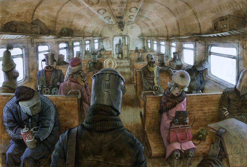 Public transportation looks the same even after the robot uprising