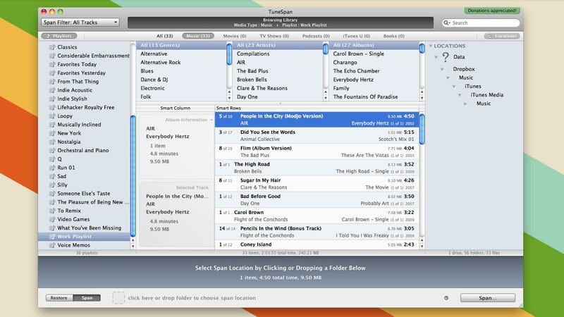 TuneSpan Lets You Store Parts of Your iTunes Library on External Storage to Save Disk Space