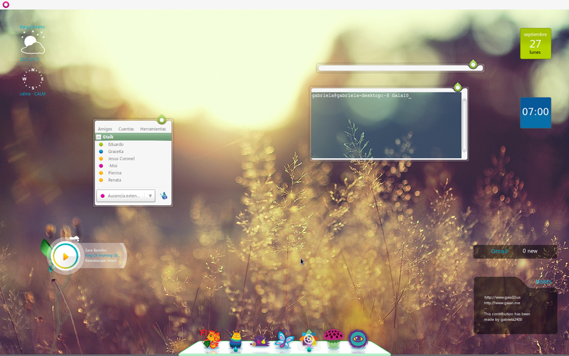 The Gaia '10 Linux Desktop