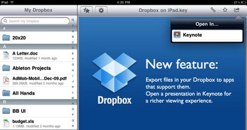 Dropbox Adds iPad Support, Makes Transferring Files Much Easier