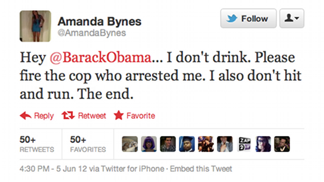 Amanda Bynes Would Like President Obama to Intervene in Her DUI
