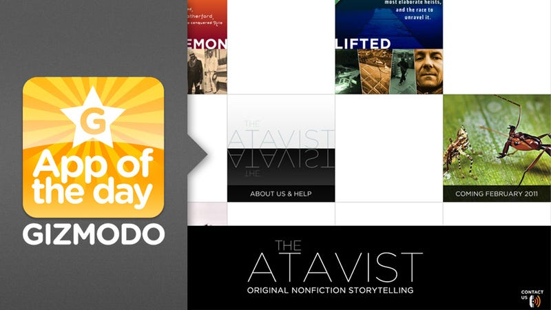 The Atavist for iPad