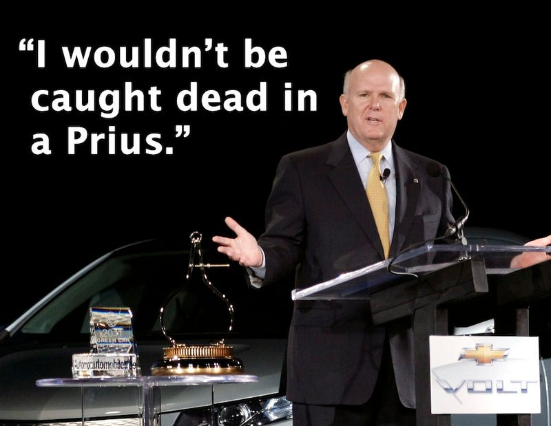 "GM's CEO Wouldn't Be ""Caught Dead"" In A Toyota Prius"