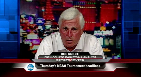 It Appears Bob Knight Has Been Sitting Too Close To Bob Ryan