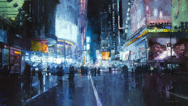 The Gritty Cityscapes of Jeremy Mann