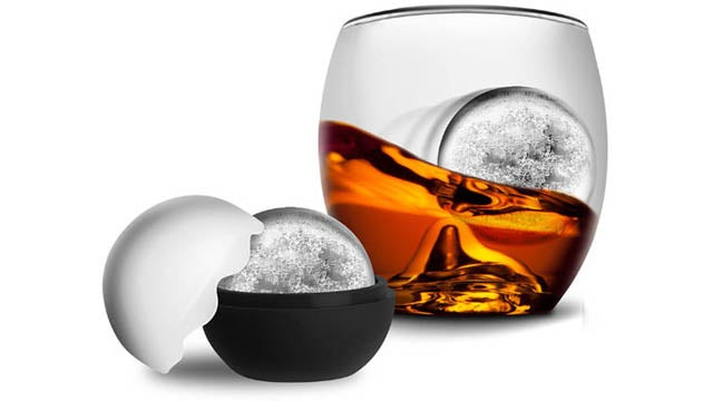 Rolling Ice Ball Makes Your Whiskey Slightly More Flavorful