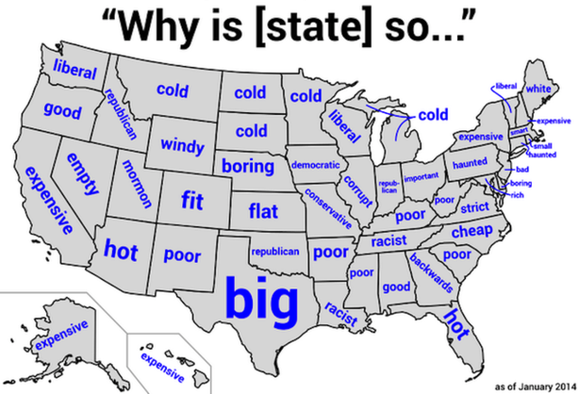 Each State's Biggest Stereotype, According to Google