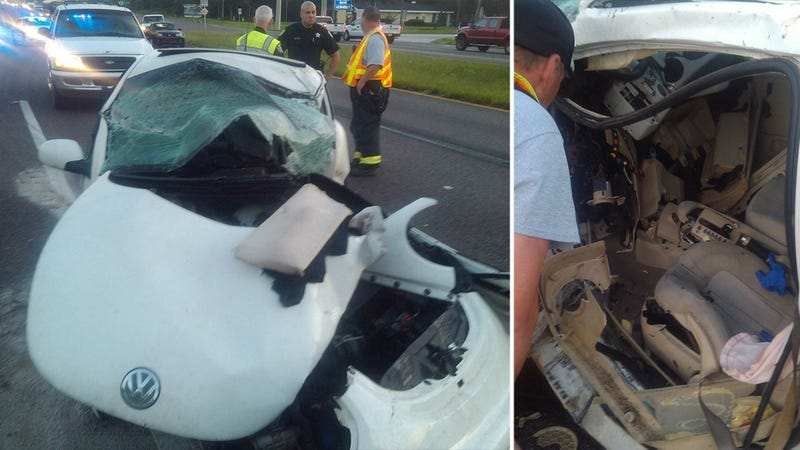 The 16-Year-Old VW Driver In This Terrible Crash Only Broke An Ankle