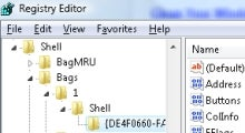 Registry Hack Creates Default Folder Size in Vista