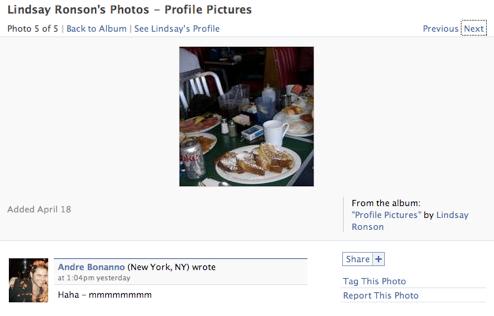 Lindsay Lohan's Facebook Page