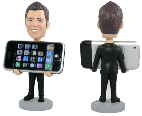 Personalized Bobblehead iPhone Holder (Yes, Someone Went There)