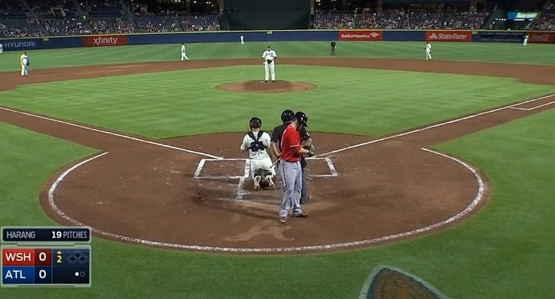 "Bryce Harper Drags Foot Through ""A"" Behind Home Plate In Turner Field"