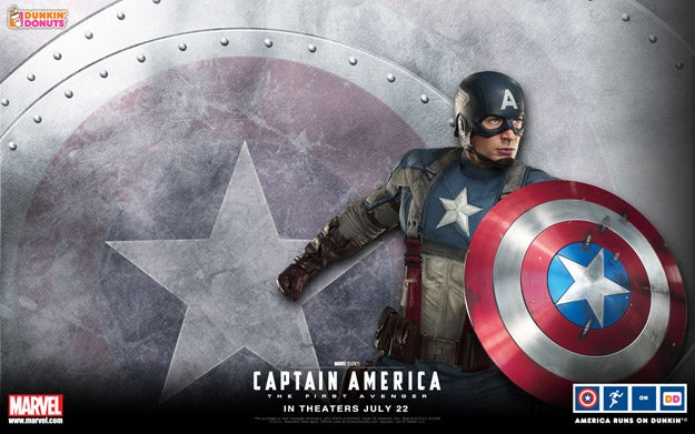 Captain America: The First Avenger Dunkin' Donuts Wallpapers
