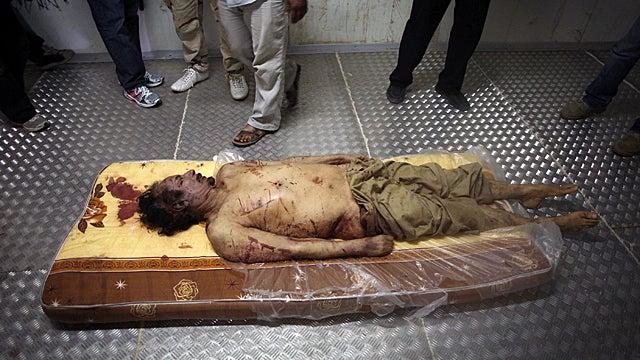 Muammar Gaddafi's Body Is in a Meat Locker Right Now