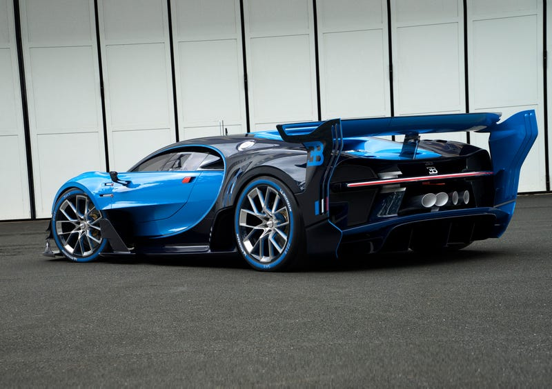 'Bugatti Vision Gran Turismo Concept: The Future Of Bugatti Looks Terrifyingly Awesome' from the web at 'http://i.kinja-img.com/gawker-media/image/upload/s--oyH0nfvk--/c_scale,fl_progressive,q_80,w_800/1430362453574726696.jpg'