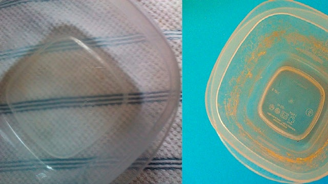 Use A Little Bleach and Hot Water to Clean Stains from Tupperware Containers