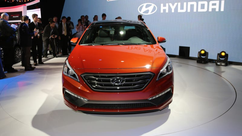 The 2015 Hyundai Sonata Is Large, Robust And Orange