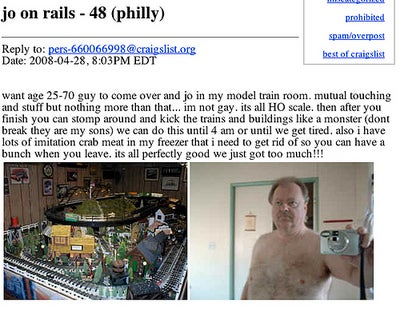 "From Craigslist: ""J.O. On Rails"""