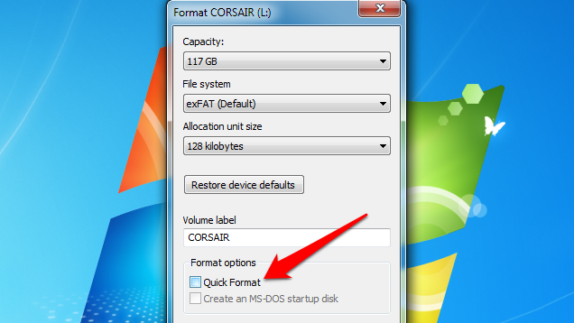 """Avoid """"Quick Formatting"""" Flash Drives to Prevent File Recovery"""