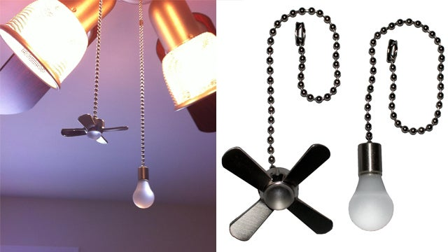 Custom Pull Chain Tabs Ensure You Never Accidentally Turn On the Fan