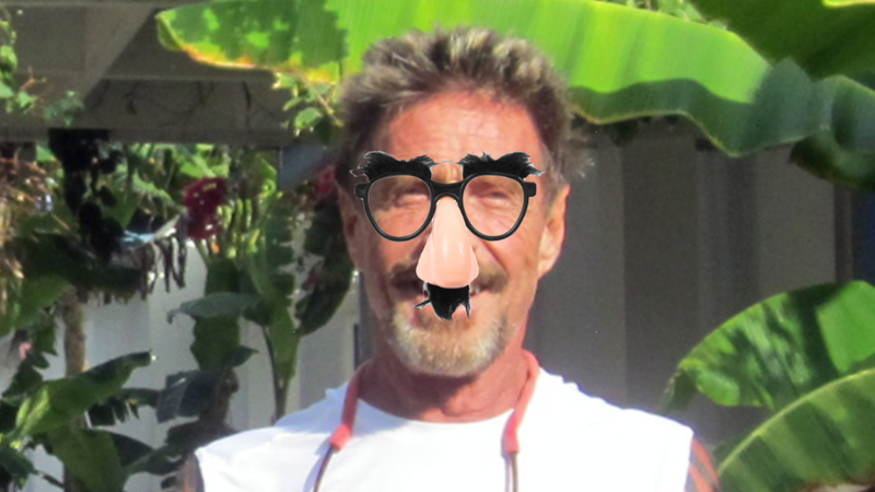 John McAfee Disguises Himself as Murderer