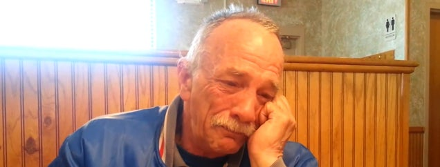 Man breaks down when he learns he's going to be a grandpa
