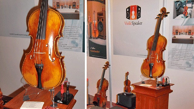 iViolin Speakers: Add a Stradivarius To Your Home Theater