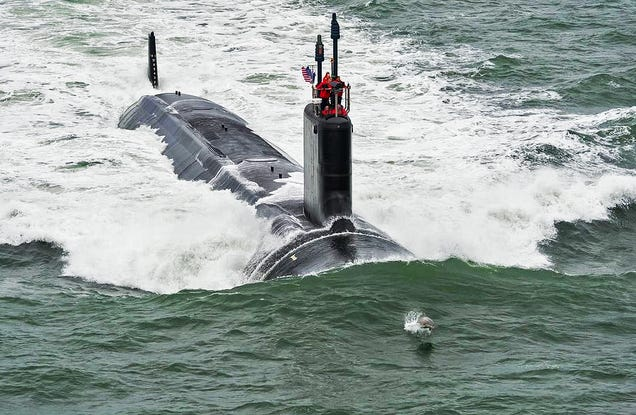 This Dolphin Is The Perfect Chaperone For The Navy's Newest Submarine