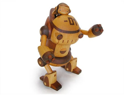 Japanese Wooden Robots Are Both Cute and Awesome