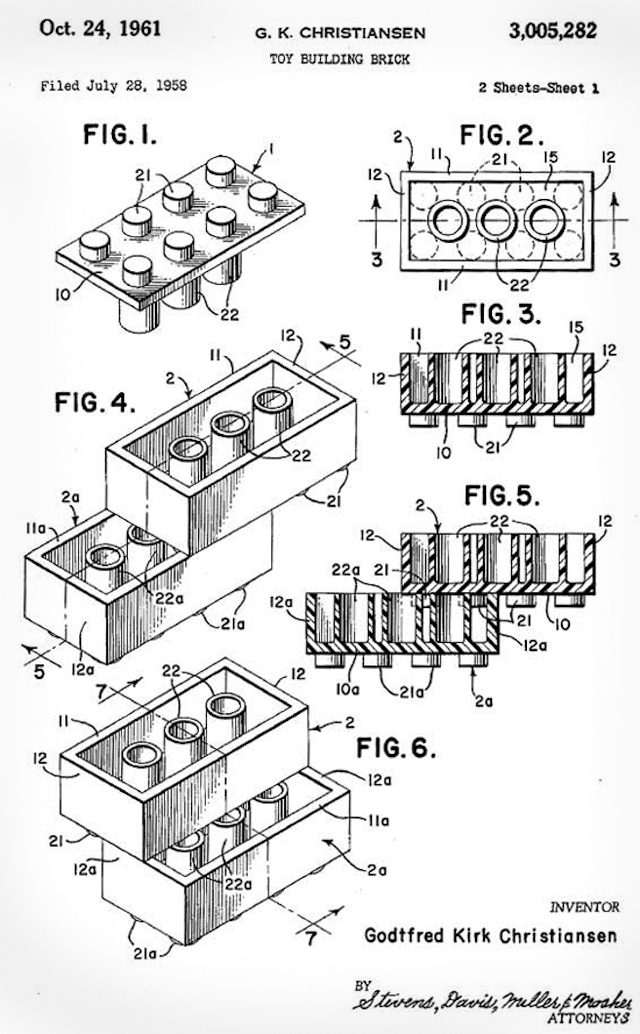 Lego Was First Patented 55 Years Ago Today