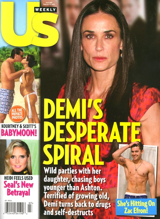 This Week In Tabloids: Details of Demi's Demented, Druggy Downfall