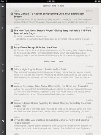 Reeder For iPad: RSS With Attention to Detail