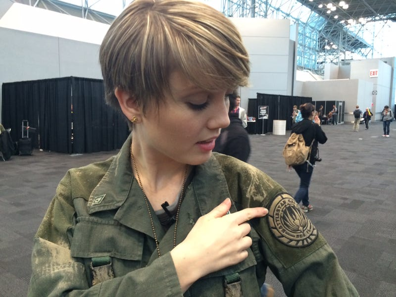 That's not Cosplay. That's the REAL Cally from Battlestar Galactica