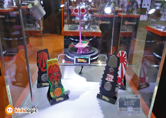 Miniature BTTF II Hoverboard and DeLorean Toys That Really Float