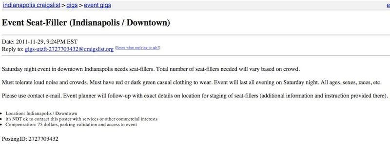 That Craigslist Ad Offering People $75 To Attend The Big Ten Championship Game Was A Hoax