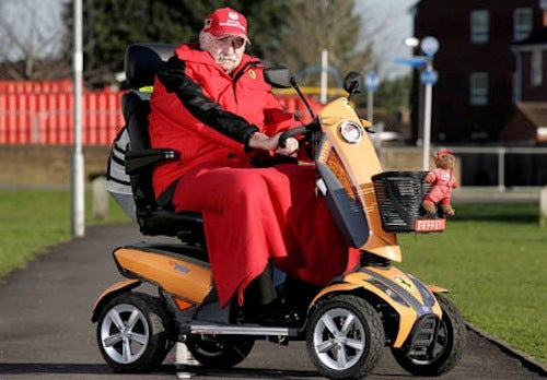 "74-Year-Old Turns Mobility Scooter Into A ""Ferrari"""