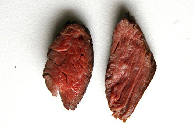 """Why Recipes Tell You to Slice Meat """"Against the Grain"""""""