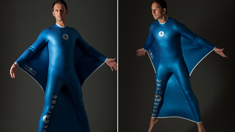 Would You Want to Fly Underwater in This Winged Wetsuit?