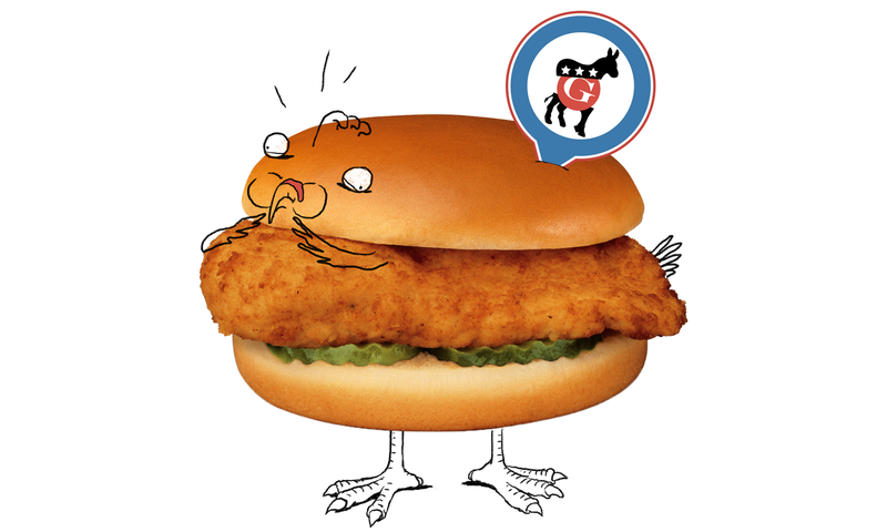 Which DNC Chicken Sandwich Made a New York Times Reporter Sick?