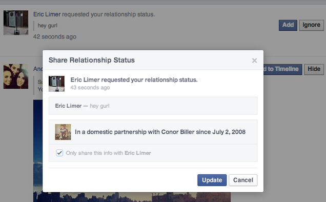 Facebook's Letting You Harass People About Their Relationships