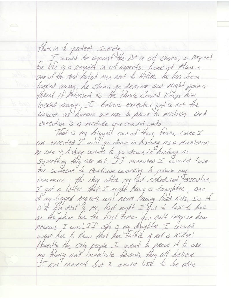 Letters From Death Row: Brett Hartmann on Justice