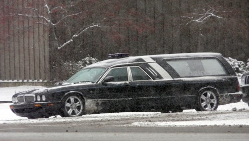 Go Out In Style With The Jaguar XJ8 Hearse