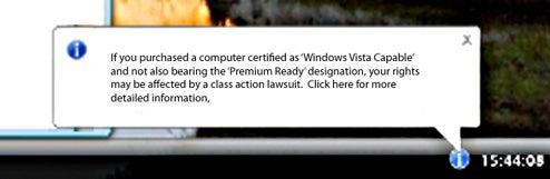 Vista plaintiffs want to notify customers through Windows Update